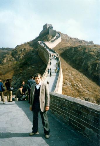 Friedrich Witt auf der chinesischen Mauer