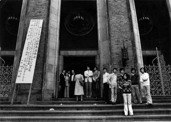 Friedrich Witt vor einem Konzert in Japan